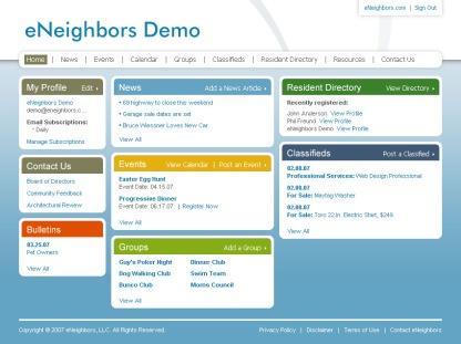 eNeighbors Resident Dashboard